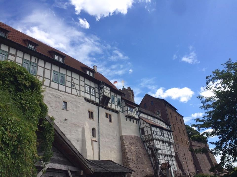 Aussenansicht Wartburg zu Eisenach